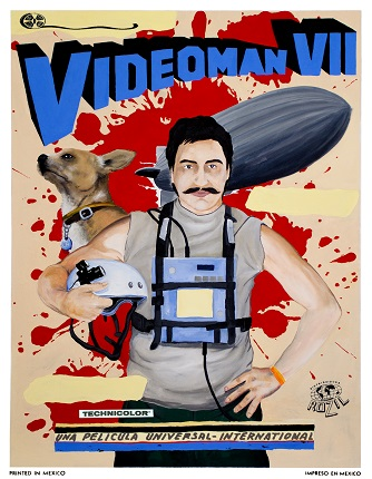 Original drawing, part of the VIDEOMAN project, which began in 2001.