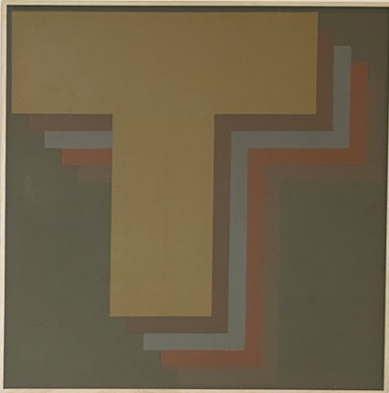 """Negation 35"", 1973. Acrylic on canvas. 110 x 110 cm."