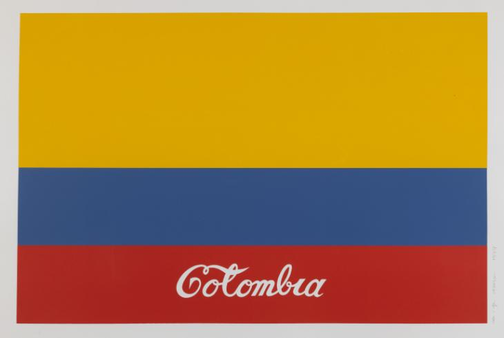 Colombia, 1977. Embroidered flag.