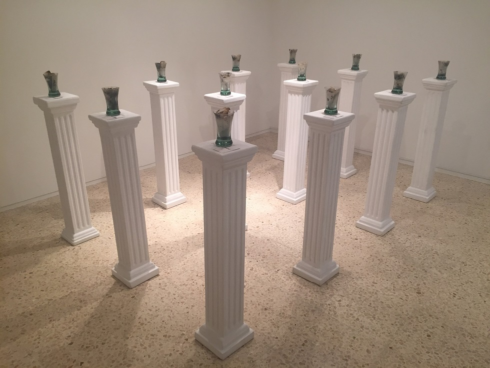 Fragments of time. (1984-86) Installation.