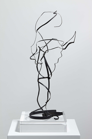 The speaker, 1948. Iron band. 45 x 20 x 14 cm.