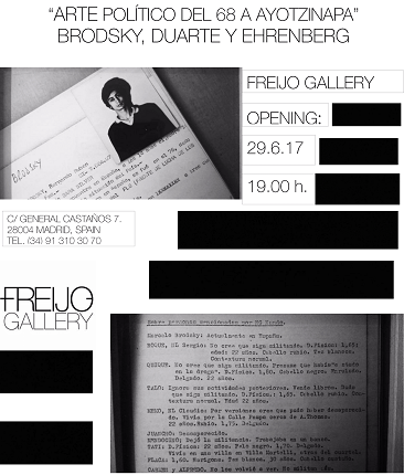 Invitation to the opening of the exhibition.