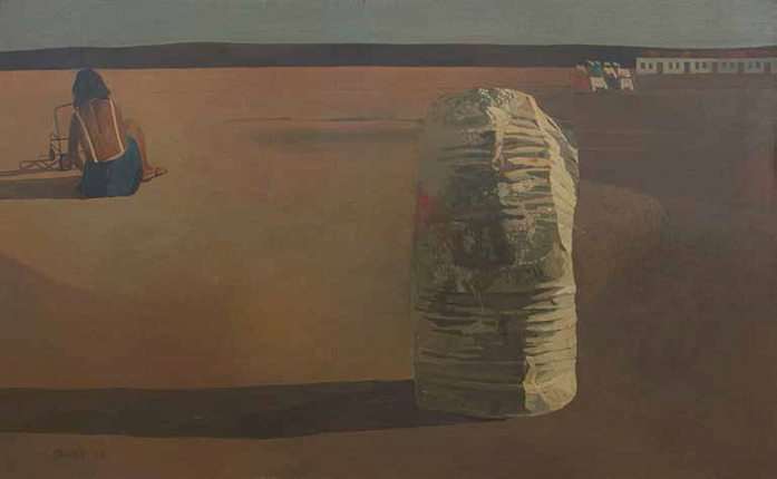 J. Duarte. Untitled, 1968. Oil on wood. 79 x 128 cm.