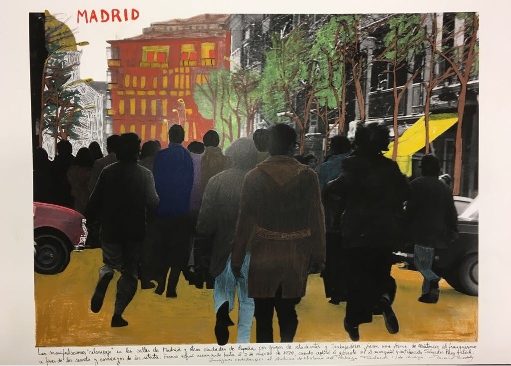 Marcelo Brodsky 2018. Intervened photography. 60 x 90 cm. Unique piece.