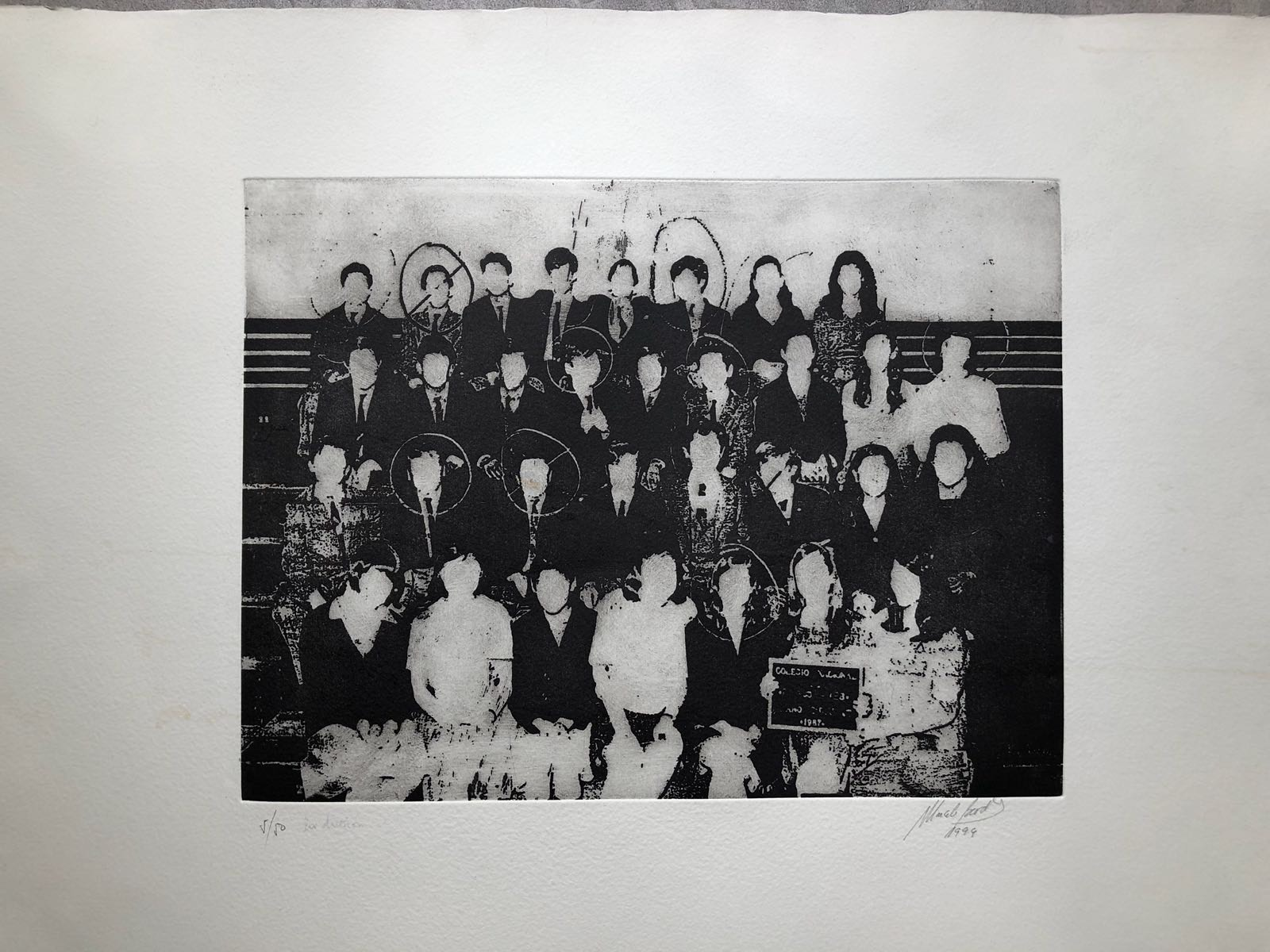 Good Memory, The class. 1997. Engraving. 48 x 63 cm. Ed. de 50.