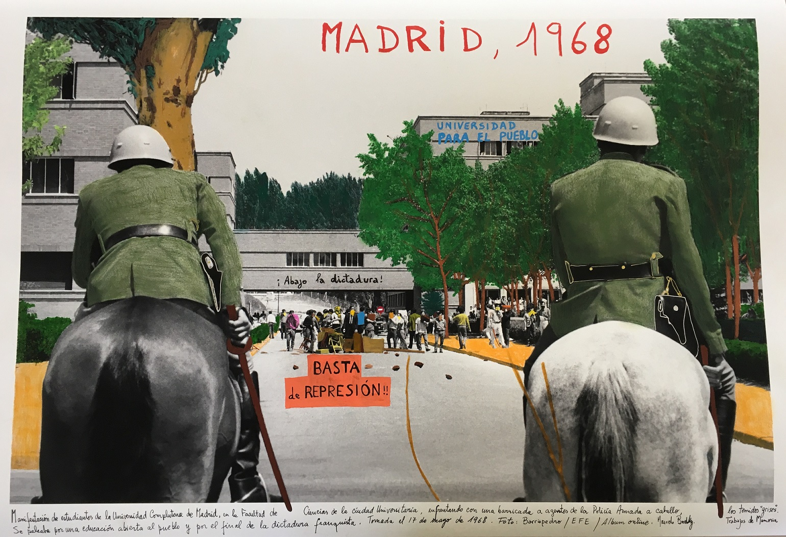 Marcelo Brodsly 2018. Intervened photography. 60 x 90 cm. Unique piece.