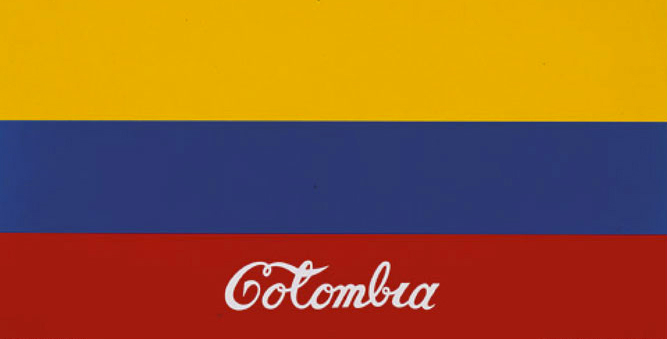 Colombia, 1977 Embroidered flag.