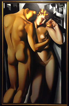"""Adam and Eve"", 1931. Year of creation of the serigraphy: 1991. 123,4 x 81,3 cm."