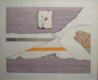 Untitled, 1972. Mixed technique and collage on cardboard, 72 x 89 cm.