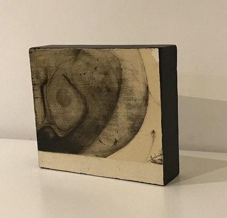 Untitled, 1975. Mixed technique on cardboard glued to wood. 21,2 x 18,5 x 5,5 cm