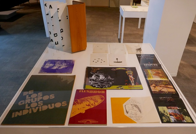 View of the showcase with works by Felipe Ehrenberg, Eduardo Terrazas and Bartolomé Ferrando.
