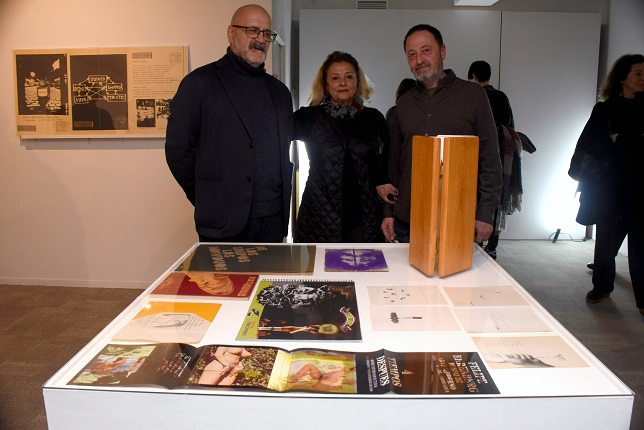 Photograph of Horacio Fernández, Angustias Freijo and Antonio Alcaraz at the opening. 