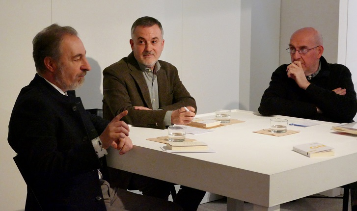 "Presentation of the book ""The Notational Shift"". José Iges, Manuel Olveira and Fernando Castro."