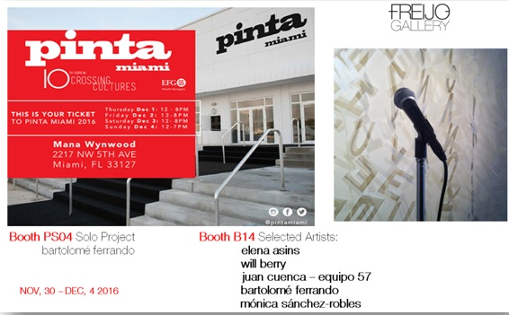 Pinta Miami, Nov -Dec 2016