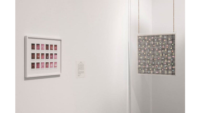 "Installation view of ""COLLECTION XIX: PERFORMANCE"" at the CA2M. Photograph: Roberto Ruiz. On the right: ""Transition Chart"" (2018), by Antonio de la Rosa."