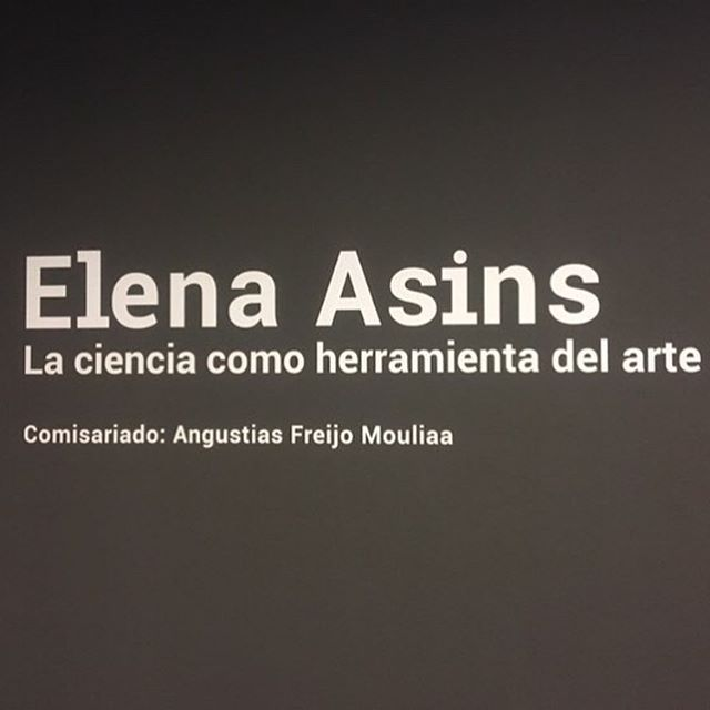 The exhibition: Elena Asins -Science as an Art Tool - is extended  at the Vimcorsa Art Space of Córdoba, Spain, until October 18, 2019.