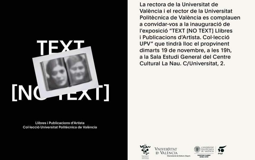 >Felipe Ehrenberg | TEXT [NO TEXT] | Universitat de València | Until January 12, 2020